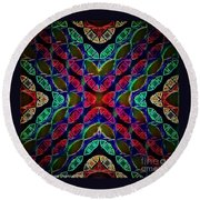 Dark Overlay Round Beach Towel