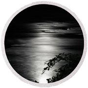 Dark River Round Beach Towel