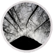 Round Beach Towel featuring the photograph Dark Shadows by Bob Cournoyer