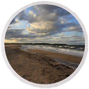 Dark Skies And Sea - Nova Scotia Seascape Round Beach Towel