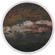 Dark Skies Round Beach Towel