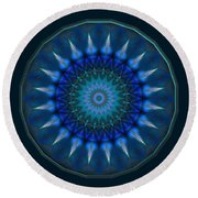 Dark Star Round Beach Towel