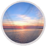 Dark Sunrise I I Round Beach Towel by  Newwwman