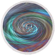 Dark Swirls Round Beach Towel