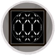 Dark Symmetry Round Beach Towel