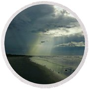 Dark To Enlightened Round Beach Towel