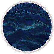 Dark Waves Round Beach Towel