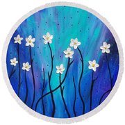 Dark Willow  Round Beach Towel