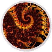 Round Beach Towel featuring the digital art Darkness In Paradise by Jeff Iverson