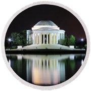 Darkness Over The Jefferson Memorial Round Beach Towel