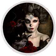 Darkside Sugar Doll Round Beach Towel