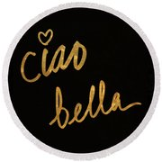 Darling Bella II Round Beach Towel by South Social Studio