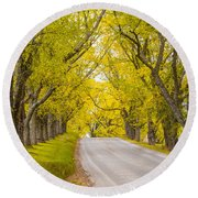 Darling Hill Autumn Round Beach Towel