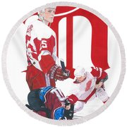 Darren Mccarty Round Beach Towel
