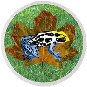 Dart Poison Frog Round Beach Towel by Ralph Root