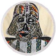 Darth Vader Star Wars Afrofuturist Collection Round Beach Towel