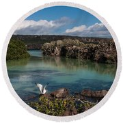 Darwin Bay     Genovesa Island      Galapagos Islands Round Beach Towel