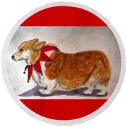 Dashing Through The Snow Surely You Jest Round Beach Towel