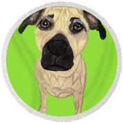 Date With Paint Sept 18 10 Round Beach Towel