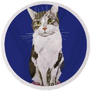 Date With Paint Sept 18 11 Round Beach Towel