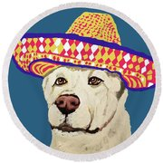 Date With Paint Sept 18 4 Round Beach Towel