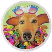 Date With Paint Sept 18 6 Round Beach Towel