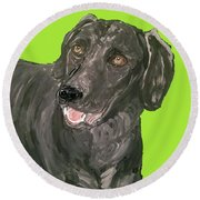 Date With Paint Sept 18 7 Round Beach Towel