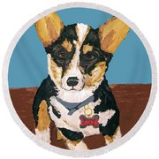 Date With Paint Sept 18 8 Round Beach Towel