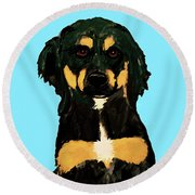 Date With Paint Sept 18 9 Round Beach Towel