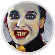 Dave Vanian Of The Damned Round Beach Towel