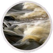 Dave's Falls #7431 Round Beach Towel by Mark J Seefeldt