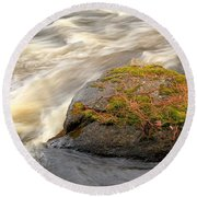 Dave's Falls #7442 Round Beach Towel