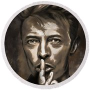 Round Beach Towel featuring the painting David by Andrzej Szczerski
