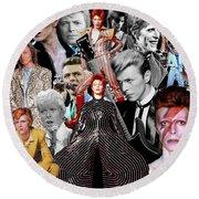 David Bowie 6 Round Beach Towel