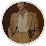 David Bowie Four Ever Round Beach Towel