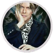 David Bowie Round Beach Towel