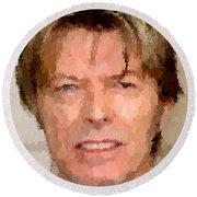 David Bowie Portrait Round Beach Towel