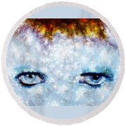 David Bowie / Stardust Round Beach Towel