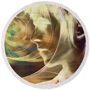 David Bowie / Transcendent Round Beach Towel