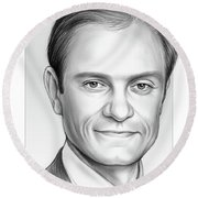 David Hyde Pierce Round Beach Towel