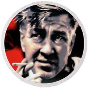 David Lynch Round Beach Towel