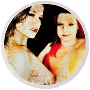 Dawn And Ryli 1 Round Beach Towel