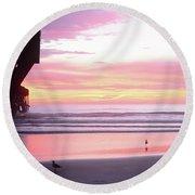 Dawn At The Beach 8-14-16 Round Beach Towel