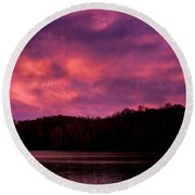 Round Beach Towel featuring the photograph Dawn At The Dock by Thomas R Fletcher