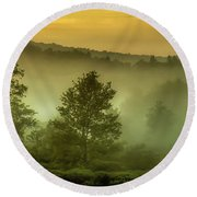 Round Beach Towel featuring the photograph Dawn At Wildlife Management Area by Thomas R Fletcher