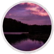 Round Beach Towel featuring the photograph Dawn Big Ditch Wildlife Management Area by Thomas R Fletcher