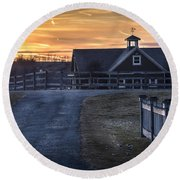 Dawn Breaking Round Beach Towel