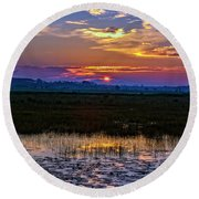 Dawn Breaking Over Saint Marks Round Beach Towel