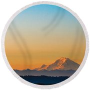 Dawn Breaks Round Beach Towel by James Heckt