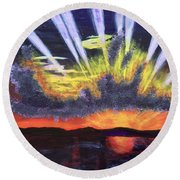 Dawn Round Beach Towel